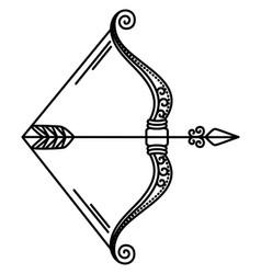 Zodiac sagittarius sign symbol bow and arrow vector