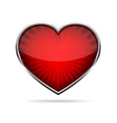 abstract heart button vector image