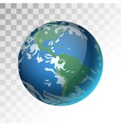 Earth planet 3d vector image