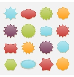 Sticky badges stars and clouds tags set vector image