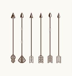 arrows set for logo vector image vector image