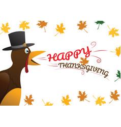happy thanksgiving celebration design vector image