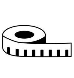 measuring tape icon on white background measure vector image