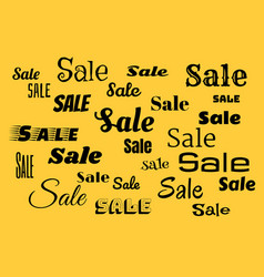 sales background with black text vector image