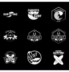 Set surfing logo vector image