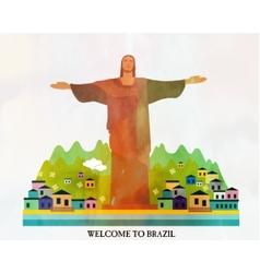 Brazil card vector image