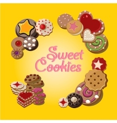 Cookies set vector image