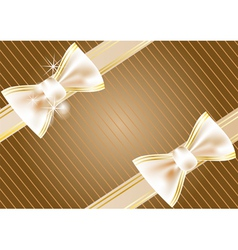 festive background with ribbon vector image vector image