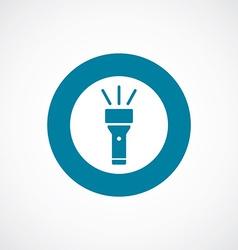 flashlight icon bold blue circle border vector image