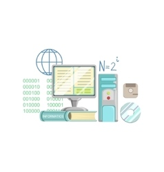 Informatics Class Set Of Objects vector image vector image