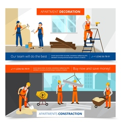 Construction Banners Set vector image vector image
