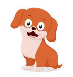 Cute dog cartoon vector