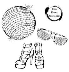 Dance line club dance accessories vector