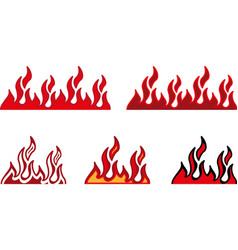 fire border vector image