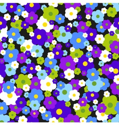 Seamless Background With Daisies vector image vector image