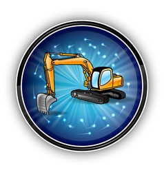 tech symbol round bluebagr vector image vector image