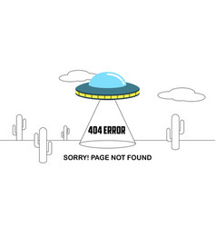 404 error website not found graphic design vector image