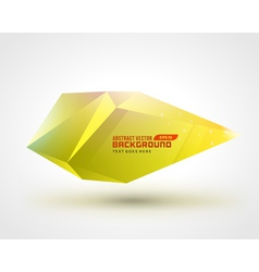 Abstract geometric 3d shape color background vector