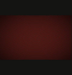 abstract red black hexagonal background vector image
