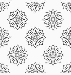 abstract seamless monochrome floral mandala vector image