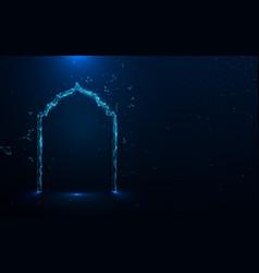 amadan kareem background mosque door vector image
