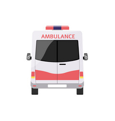Ambulance emergency service car front view flat vector