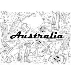 Australia Coloring vector