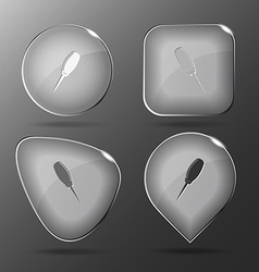 Awl Glass buttons vector