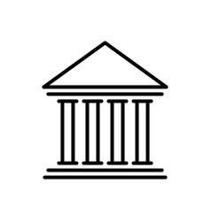 bank icon finance building vector image