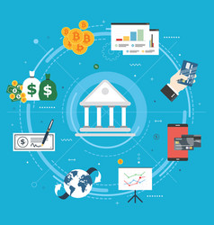 Banking and finance economy investment and payment vector