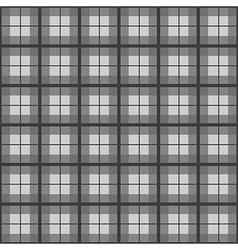 Black White Tartan Background vector image