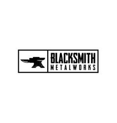 Blacksmith metalworks logo design inspiration vector