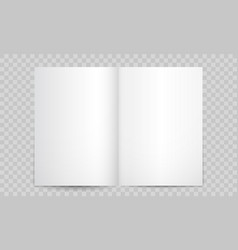 book or magazine open blank pages isolated 3d vector image
