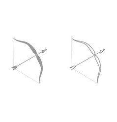 Bow and arrow it is black icon vector
