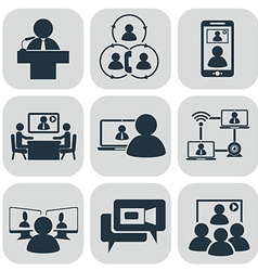 Business communication Video conference vector