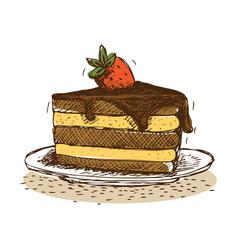 Cake doodle vector
