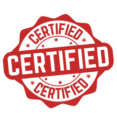 Certified sign or stamp vector