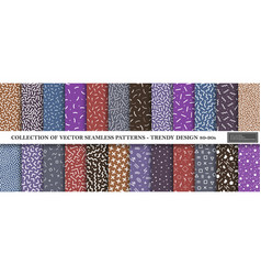 collection memphis seamless vibrant patterns vector image