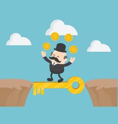 concept boss businessman walking between vector image