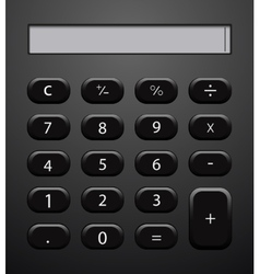 concept modern calculator background vector image