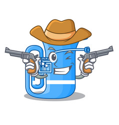 Cowboy tuba in the mascot music room vector