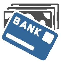 Credit money flat icon vector