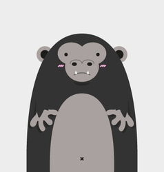 cute big fat gorilla vector image