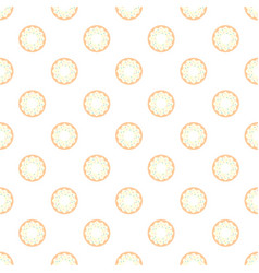 Donuts with colored glaze on pattern background vector