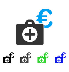 Euro medical payment flat icon vector