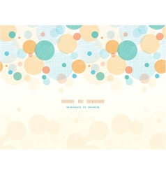 fabric circles abstract horizontal seamless vector image