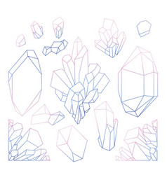 Graphic pastel crystals vector
