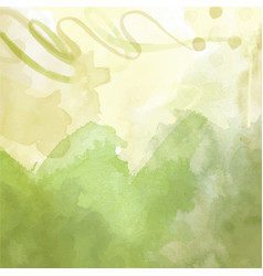 Green hand drawn watercolor background vector