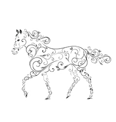 Horses from curls vector image