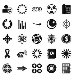 Index icons set simple style vector